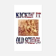 Kickin' It Old School - Tea P Rectangle Decal