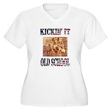 Kickin' It Old School - Tea P T-Shirt