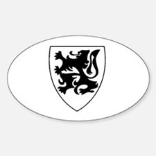 Vlaamse Leeuw Oval Decal
