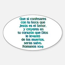 Romanos 10:9 Oval Decal