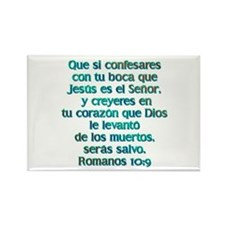Romanos 10:9 Rectangle Magnet