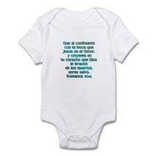 Romanos 10:9 Infant Bodysuit