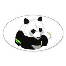Panda Bear Oval Decal