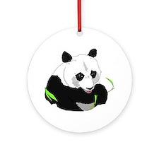 Panda Bear Ornament (Round)