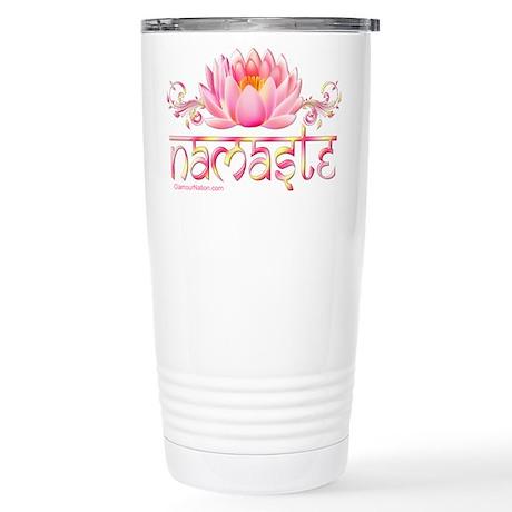 Namaste Lotus Stainless Steel Travel Mug