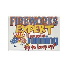 Fireworks Expert Rectangle Magnet