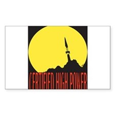 High Power Certified! Rectangle Decal