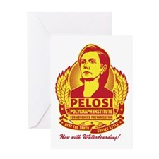 Pelosi Polygraph Greeting Card