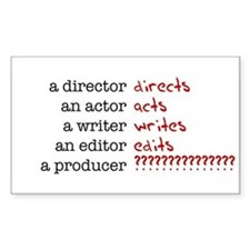Film & TV Producer Rectangle Decal
