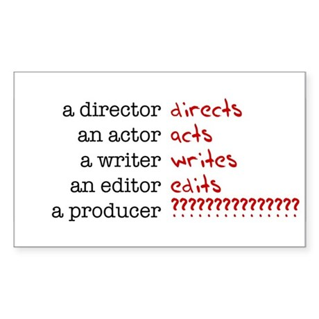 Film & TV Producer Rectangle Sticker