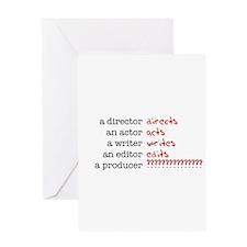 Film & TV Producer Greeting Card
