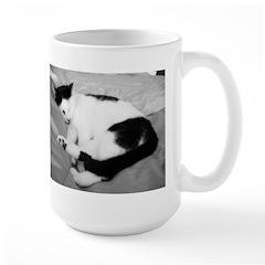 Sleepy Kitty Large Mug