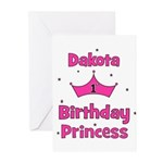 1st Birthday Princess Dakota! Greeting Cards (Pk o