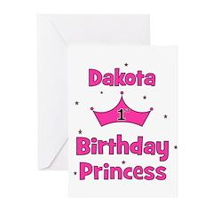 1st Birthday Princess Dakota! Greeting Cards (Pk o