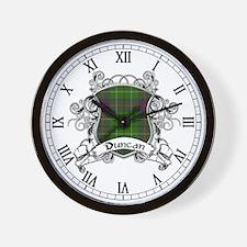 Duncan Tartan Shield Wall Clock