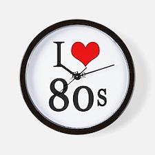 'I Love The 80s' Wall Clock