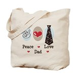 Peace Love Dad Tote Bag