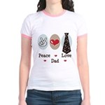 Peace Love Dad Jr. Ringer T-Shirt