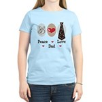 Peace Love Dad Women's Light T-Shirt