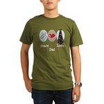 Peace Love Dad Organic Men's T-Shirt (dark)