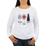 Peace Love Dad Women's Long Sleeve T-Shirt