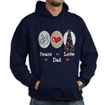 Peace Love Dad Hoodie (dark)
