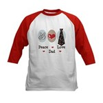 Peace Love Dad Kids Baseball Jersey