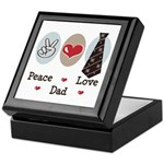 Peace Love Dad Keepsake Box