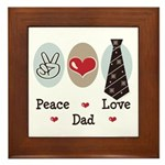 Peace Love Dad Framed Tile
