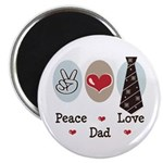Peace Love Dad Magnet