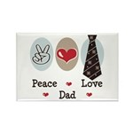 Peace Love Dad Rectangle Magnet (100 pack)