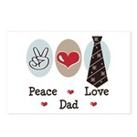 Peace Love Dad Postcards (Package of 8)