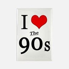 'I Love The 90s' Rectangle Magnet
