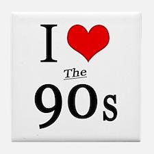 'I Love The 90s' Tile Coaster