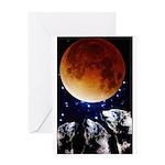 Three Wolf Moon Greeting Card