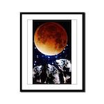 Three Wolf Moon Framed Panel Print