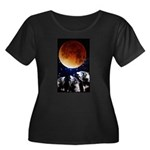 Three Wolf Moon Women's Plus Size Scoop Neck Dark