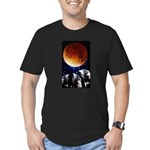 Three Wolf Moon Men's Fitted T-Shirt (dark)