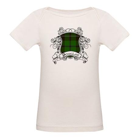 Douglas Tartan Shield Organic Baby T-Shirt