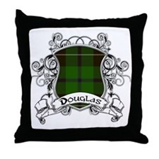 Douglas Tartan Shield Throw Pillow