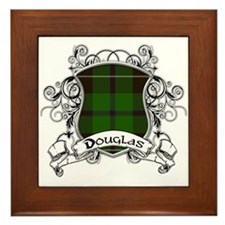 Douglas Tartan Shield Framed Tile