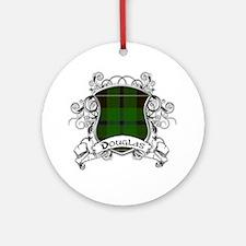 Douglas Tartan Shield Ornament (Round)