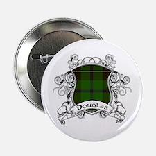 """Douglas Tartan Shield 2.25"""" Button"""