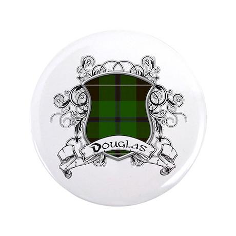 """Douglas Tartan Shield 3.5"""" Button"""