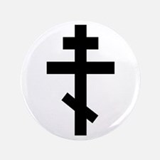 "Orthodox Plain Cross 3.5"" Button (100 pack)"