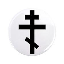"Orthodox Plain Cross 3.5"" Button"