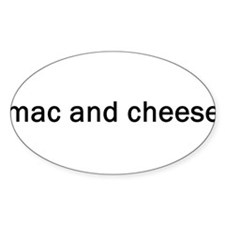 Mac and Cheese Oval Decal
