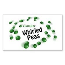 Visualize Whirled Peas Rectangle Decal