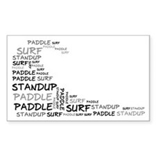 Wordup Wave White Rectangle Decal