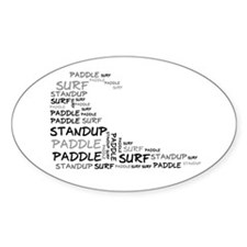 Wordup Wave White Oval Decal